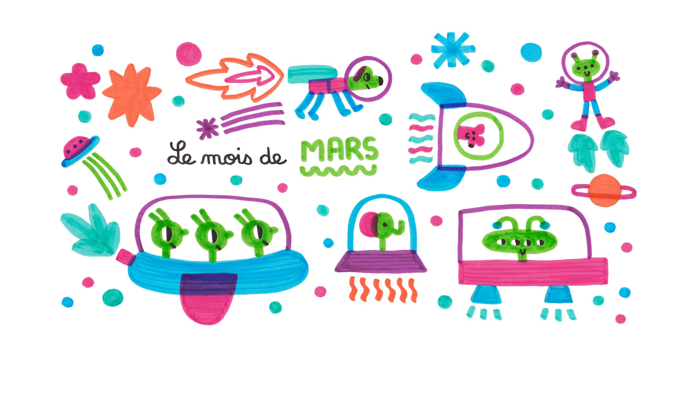 dessin de mars