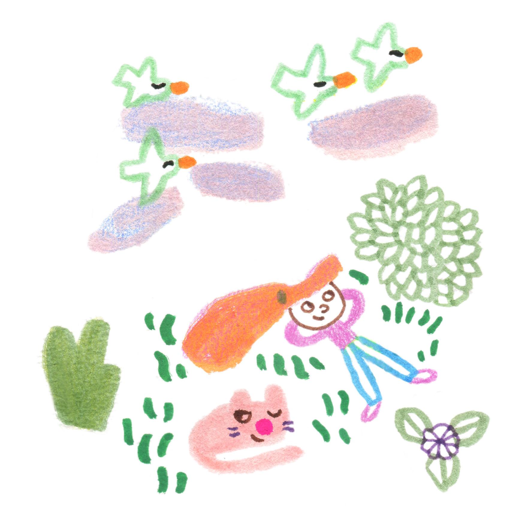 Fille dans un jardin